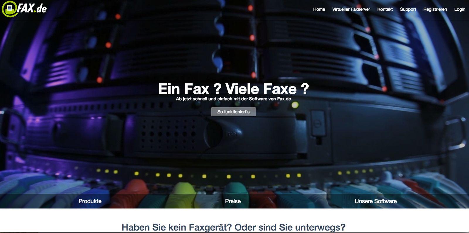 Onlinefax bei Fax de