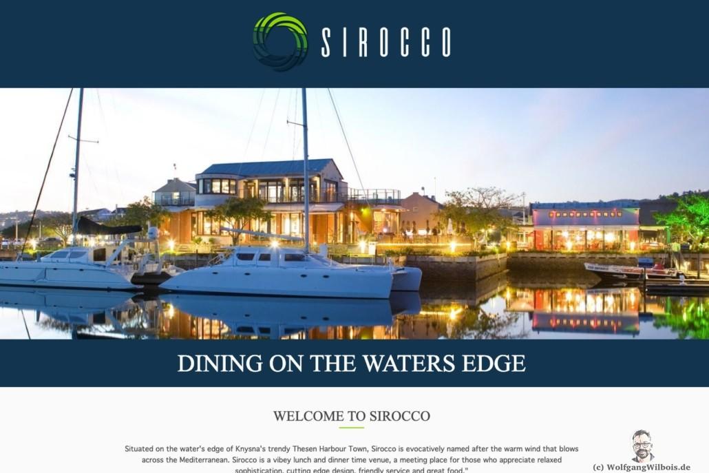 Restaurant Sirocco Knyzna