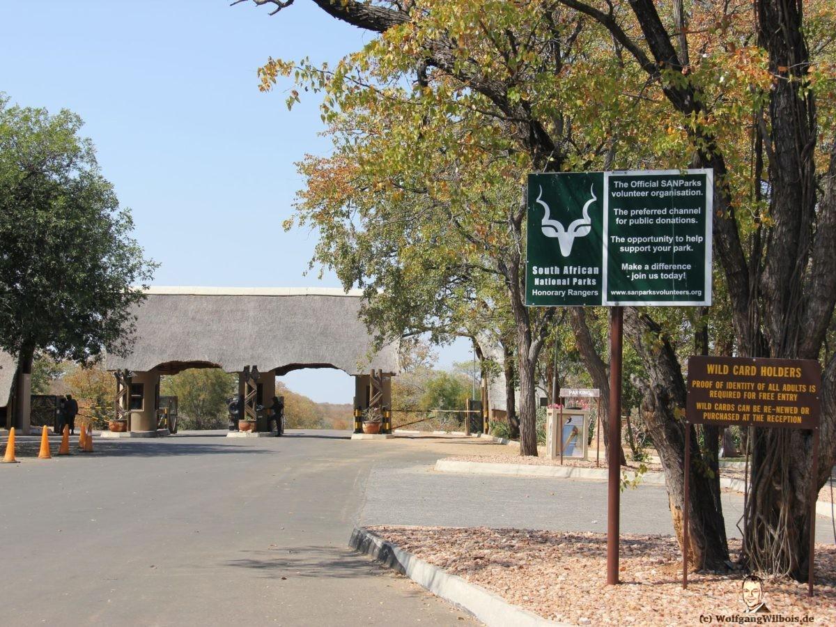 Suedafrika Krueger Nationalpark Eingang Gate