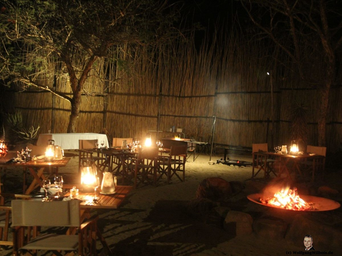Nkomazi Game Reserve Südafrika Candlelight Dinner