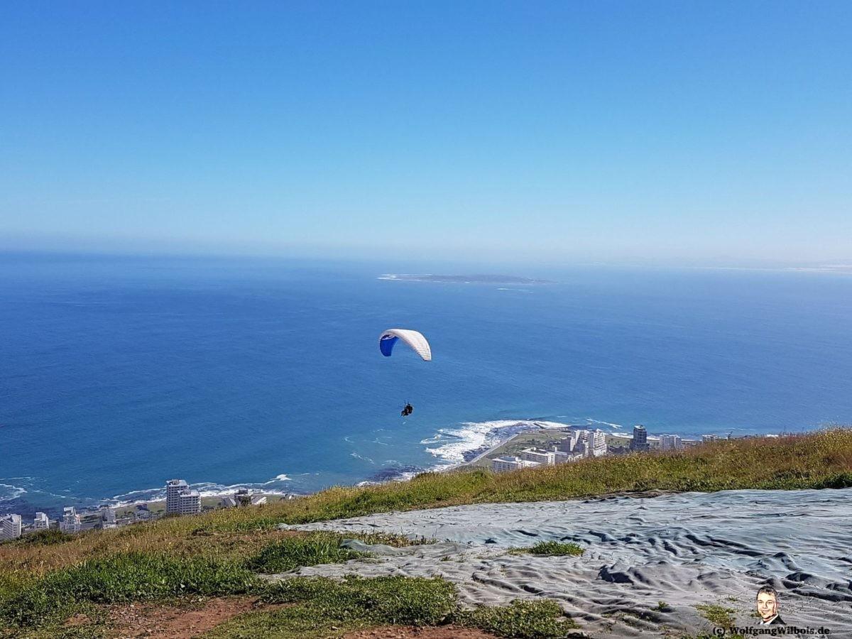 Tag 21 Kapstadt Signal Hill Gleitschirm