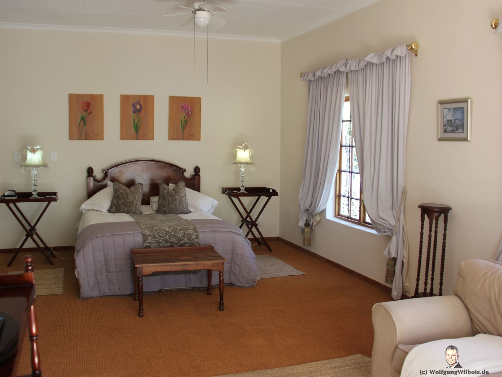 Brooks Cottage Pretoria Schlafzimmer