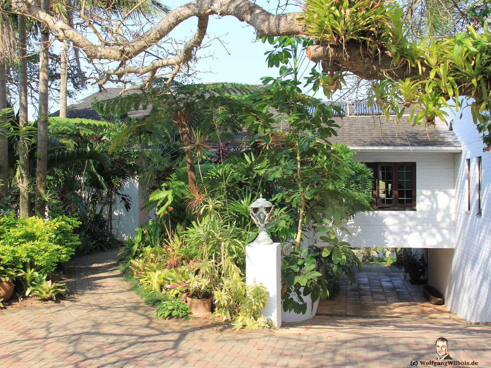 St. Lucia Wetlands Guesthouse Auffahrt