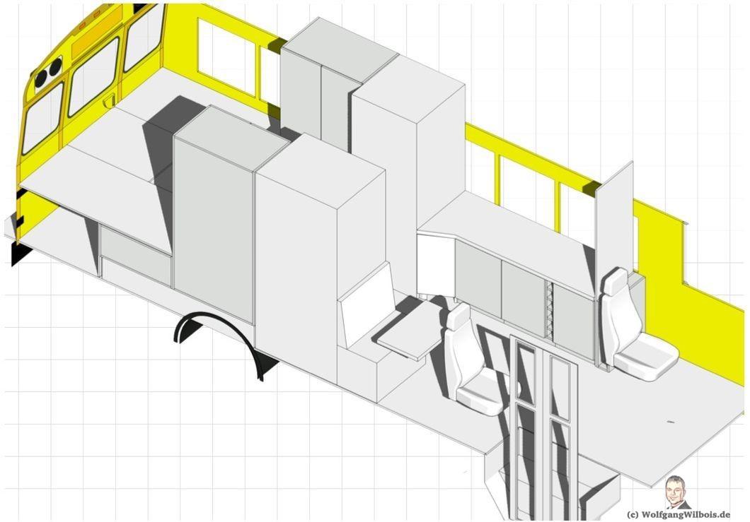 Skoolie Grundriss 3D