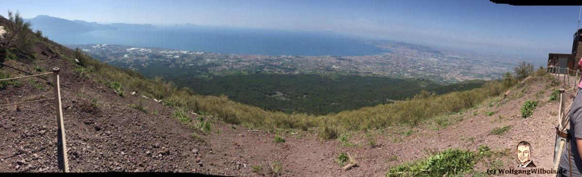 Vesuv Panorama Bucht von Neapel