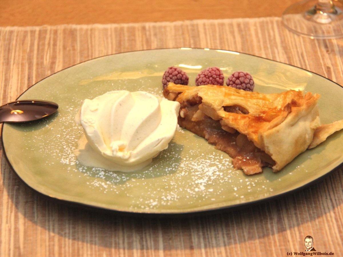 Apfeltarte Dessert Herbstmenue