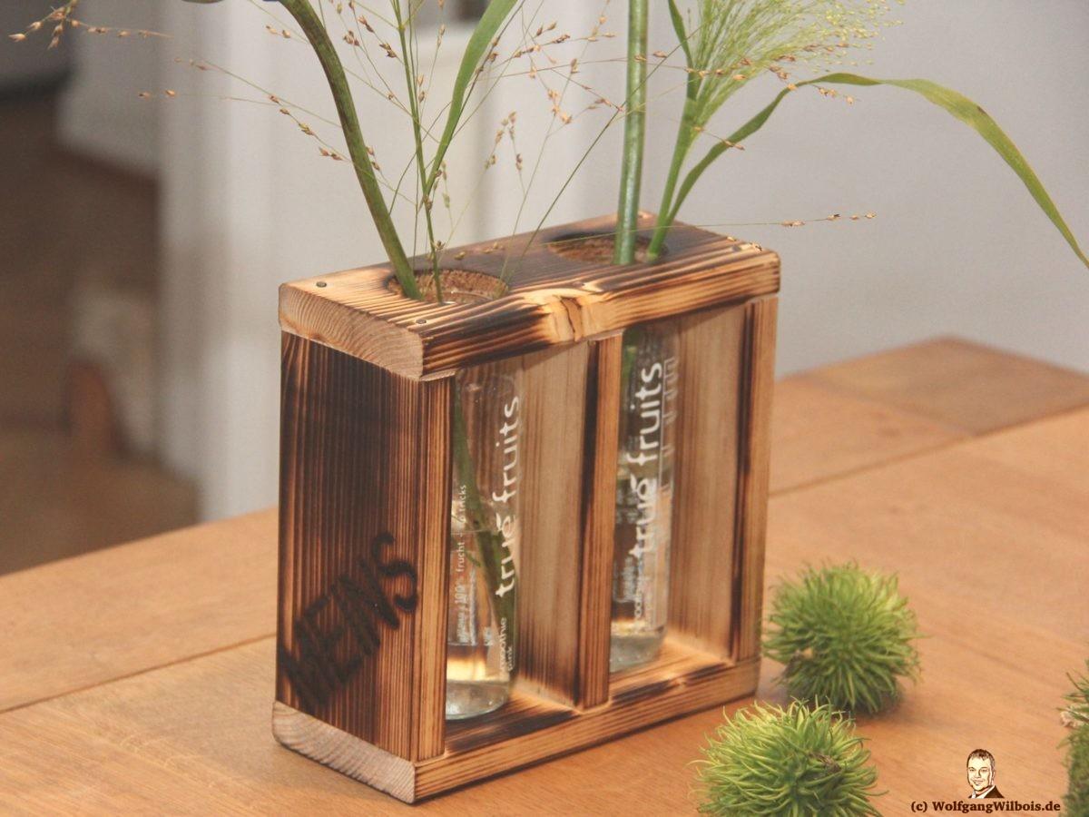 Blumenvase Holz doppelt MEINSmanufaktur