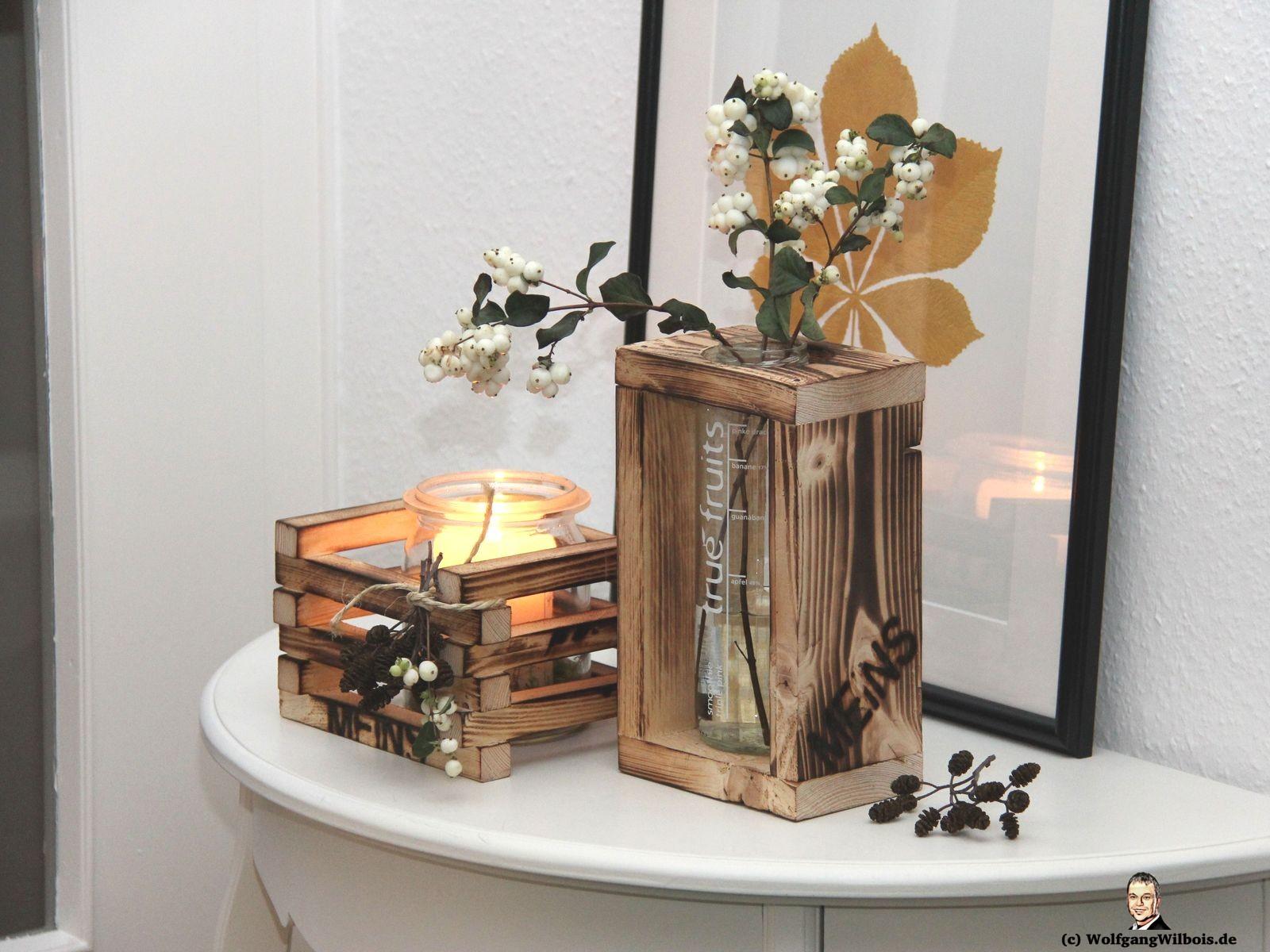 Blumenvase Holz einzeln MEINSmanufaktur