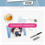 MyPostcard Startbildschirm