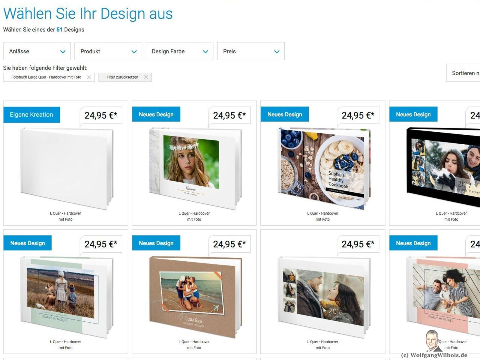 Smartphoto Designvorlagen