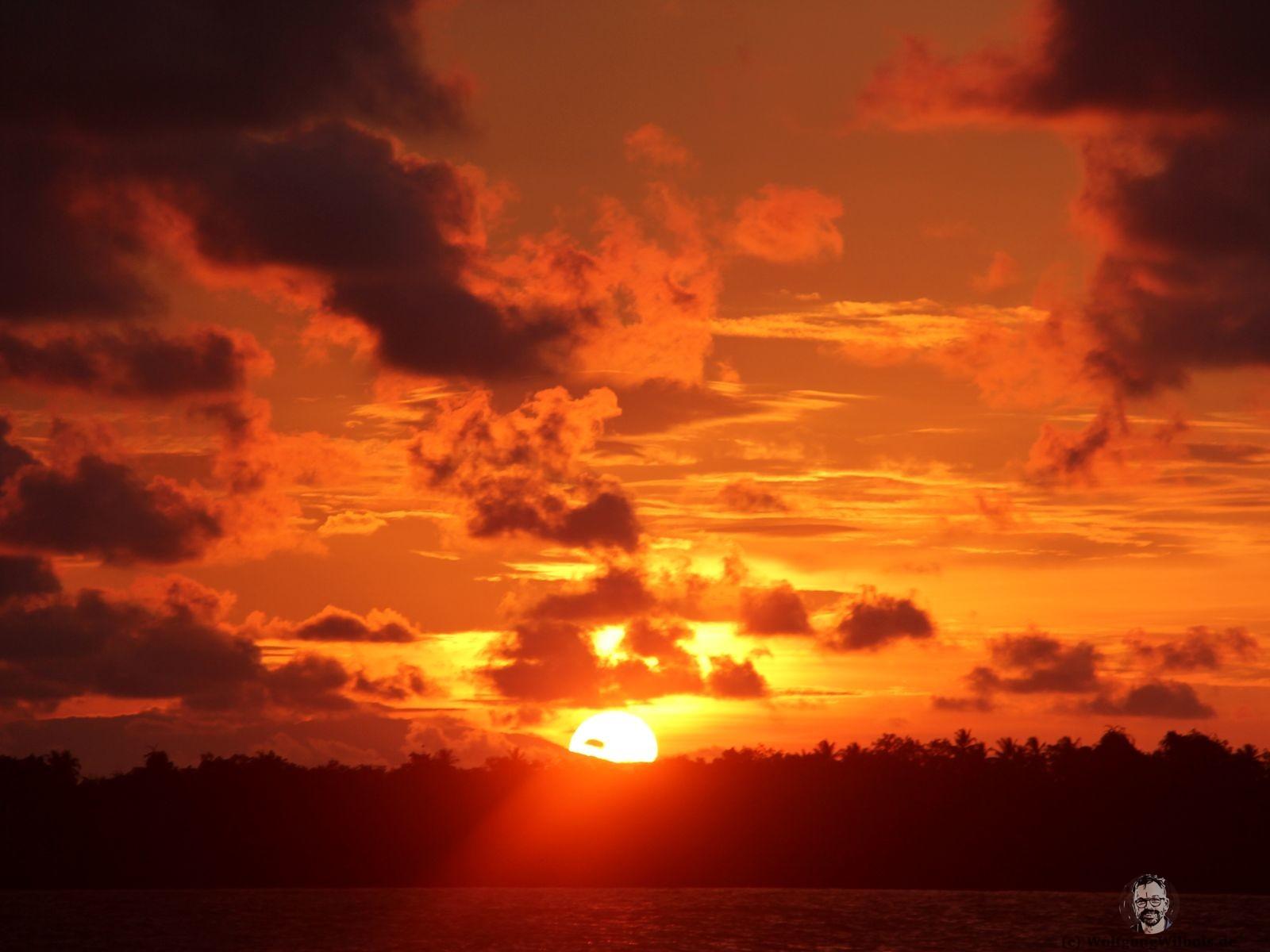 Backpacking Borneo Santubong Nationalpark Sonnenuntergang