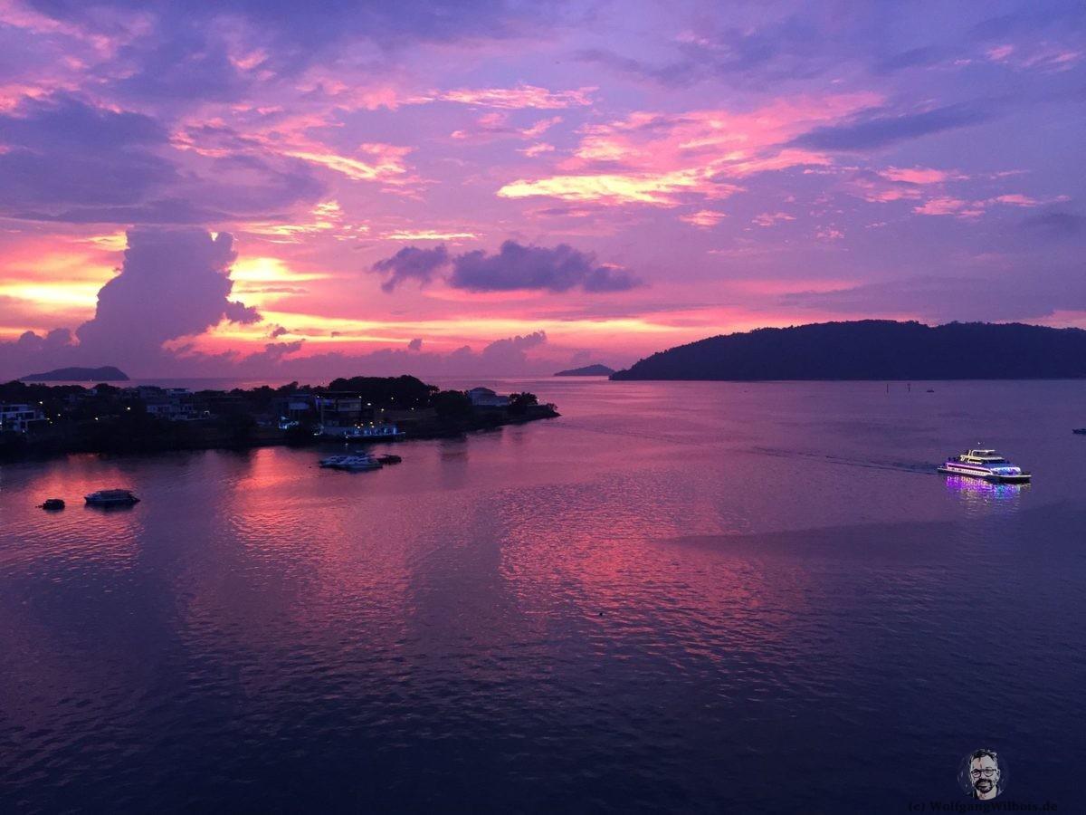 Kota Kinabalu Marriott Hotel Sundowner Sonnenuntergang